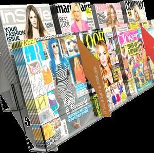 Individual magazines shelving